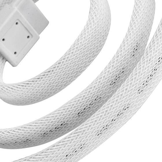 Beautiful all white sleeved cable (CP07W)