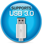 Supports USB3.0
